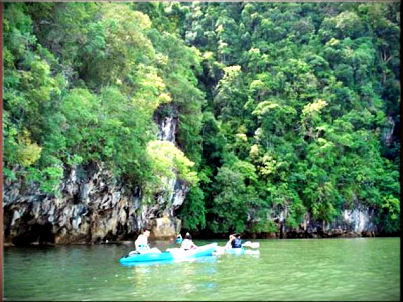 One Day Tour Kayaking Ao Thalane